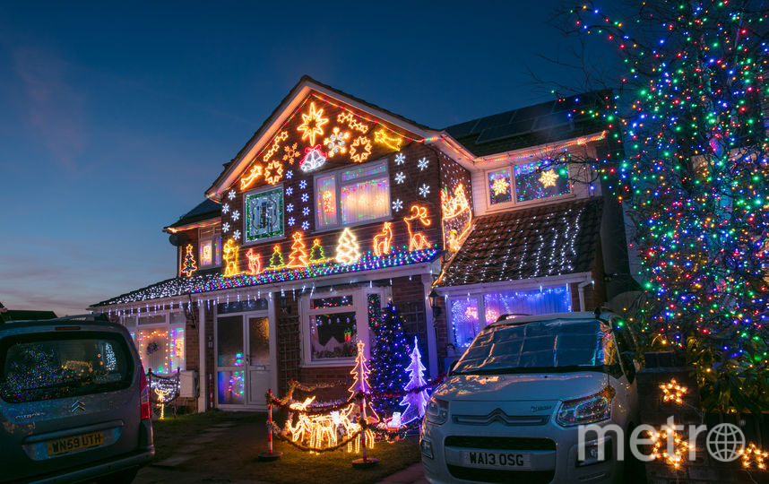 Так украшен дом в Бернем-он-Си в Британии. Фото Getty