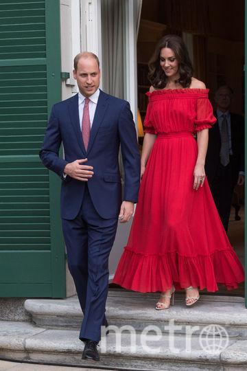 Принц Уильям и Кэтрин на вечеринке по случаю дня рождения королевы Елизаветы II в Британской резиденции послов 19 июля 2017 года в Берлине. Фото Getty