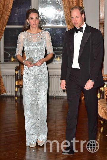 Принц Уильям и Кэтрин прибыли на званый обед в Париже, 17 марта. Фото Getty