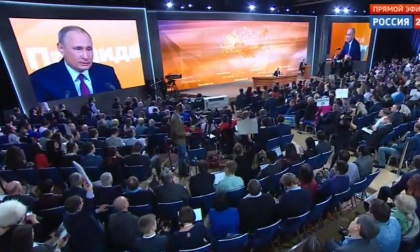 Назван лучший вопрос Владимиру Путину во время пресс-конференции. Фото Скриншот Youtube