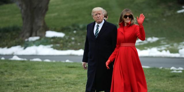 Мелания Трамп в 2017 году. Лучшие платья и образы.