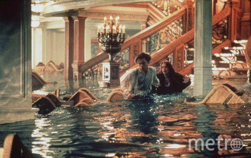 Кейт Уинслет и Леонардо Ди Каприо во время съемок. Фото Getty
