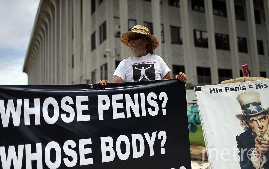 Митинг против детского обрезания в США. Фото Getty