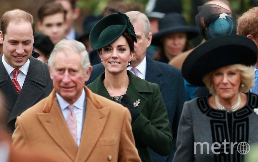 Архив. Принц Уильям, Кейт Миддлтон, принц Чарльз и Камилла. Фото Getty