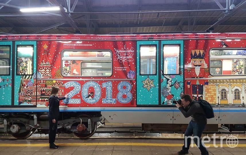 """Тематический поезд """"Путешествие в Рождество"""". Фото Василий Кузьмичёнок"""