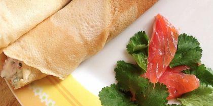 """Диетические блины с красной рыбой. Фото Алина Данг, """"Metro"""""""