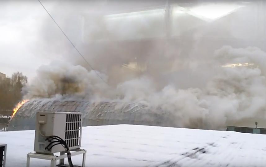 Насеверо-востоке столицы потушили 200-метровый пожар