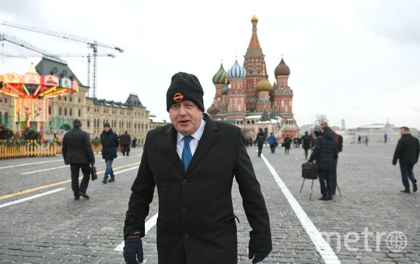 Борис Джонсон на Красной площади. Фото AFP