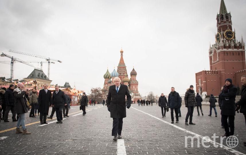 Борис Джонсон в Москве. Фото AFP