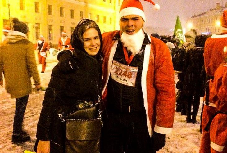 Забег Дедов Морозов. Фото Все - скриншот Instagram