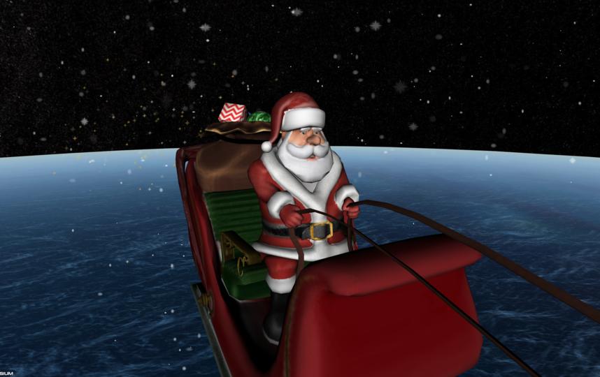 Сейчас Санта направляется в Сидней (Австралия). Фото www.noradsanta.org