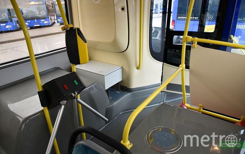 Турникет в столичном автобусе. Фото Василий Кузьмичёнок