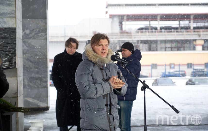 Заместитель генерального директора Первого канала Кирилл Клеймёнов на открытии мемориала в память о погибших журналистах. Фото предоставлено Первым каналом