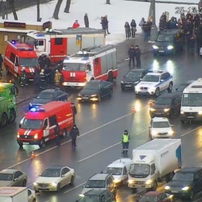 Кадр с места инцидента. Фото Instagram @codd_moscow