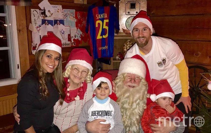 Лионель Месси с семьей в праздничной обстановке. Фото instagram.com/leomessi
