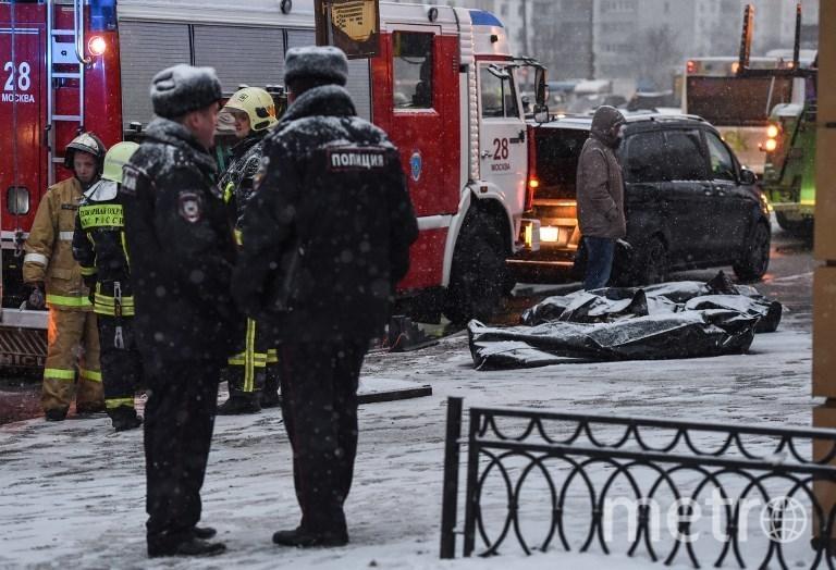 Фото с места ДТП на Славянском бульваре в Москве. Фото AFP