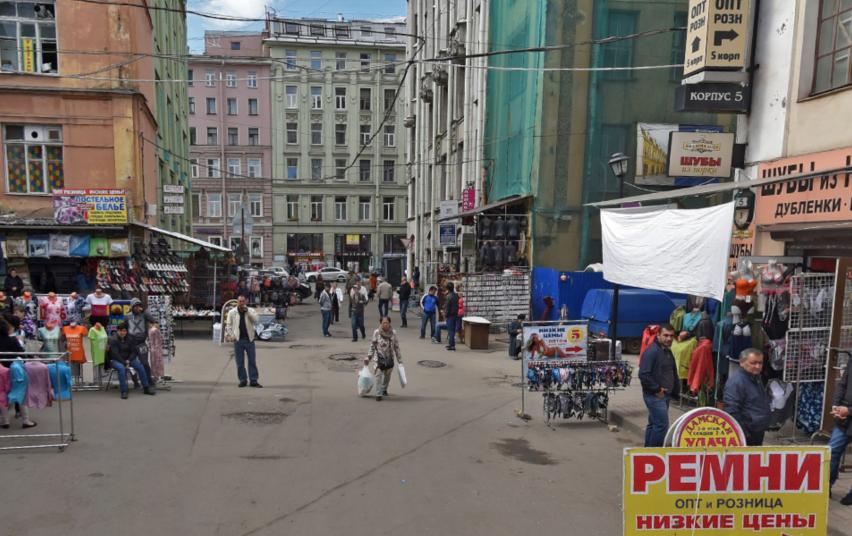 """На рынке """"Апраксин двор"""" в Петербурге произошла перестрелка. Фото Яндекс.Панорамы"""