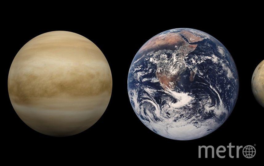 Меркурий, Венера, Земля, Марс (сравнительные размеры планет). Фото Wikipedia/ Brian0918