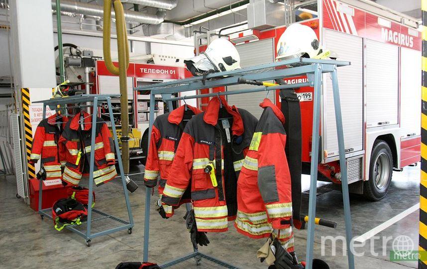 На фабрике в подмосковной Балашихе произошёл пожар. Фото Василий Кузьмичёнок