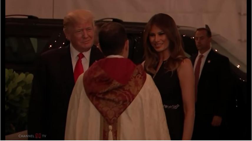 Дональд и Мелания Трамп. Фото Скриншот Youtube