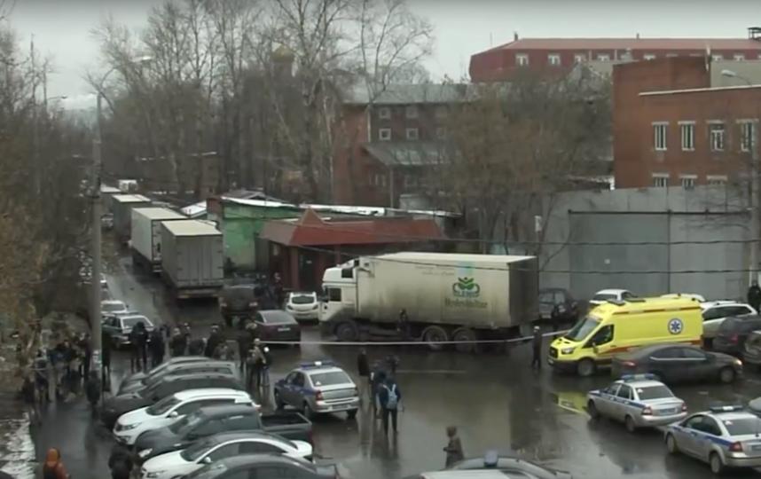 """Фотография с места происшествия. Фото Скриншот """"Москва 360"""""""