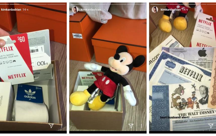 Ким Кардашьян распаковывает подарки от Канье Уэста. Фото Скриншот Instagram: kimkardashian