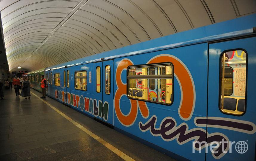 Поезд на станции столичного метро (архивное фото). Фото Василий Кузьмичёнок