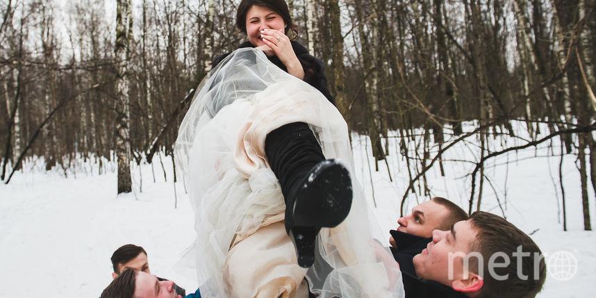 Екатерина Гусева и друзья жениха. Фото Екатерина Гусева