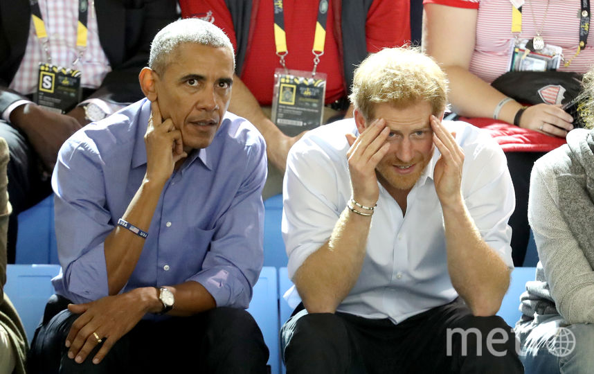Барак Обама и Принц Гарри. Фото Getty