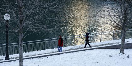 В Чикаго мороз и снег. Фото Getty
