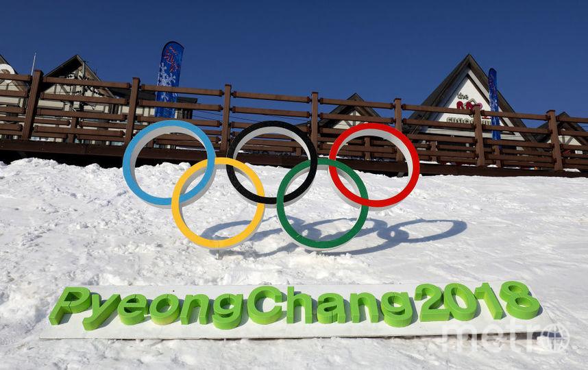 Олимпийские кольца в Пхенчхане. Фото Getty