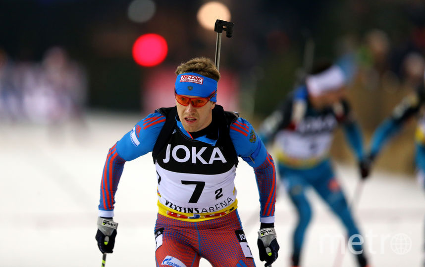 Российский биатлонист Алексей Волков. Фото Getty