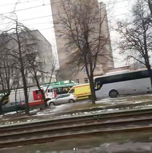 Фото с места ДТП на Сходненской в Москве. Фото Instagram/0505veronika