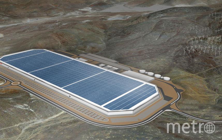 Концепт новой фабрики Tesla в Неваде. Фото www.tesla.com