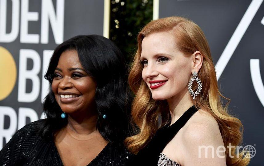 Актрисы на Golden Globe Awards. Джессика Честейн. Фото Getty