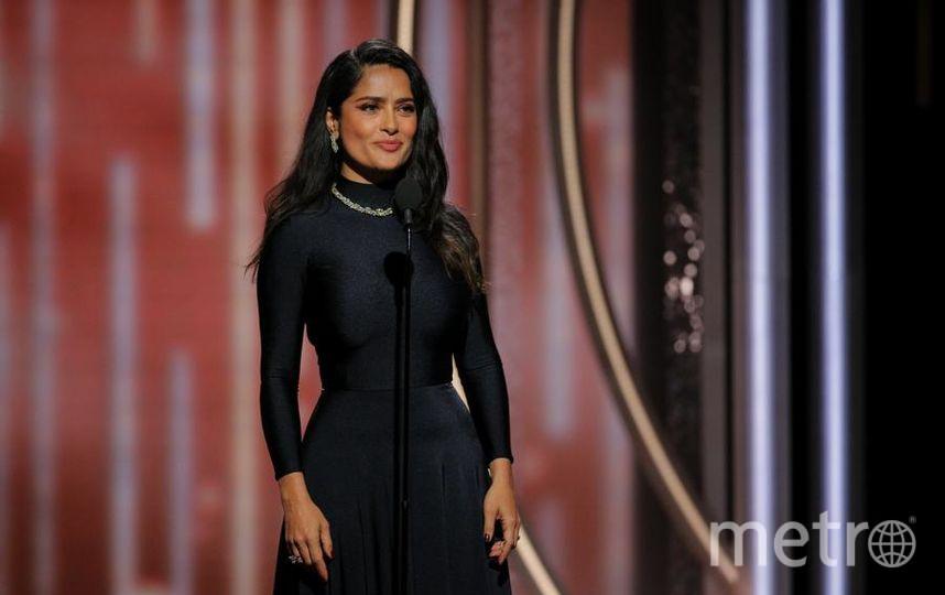 Актрисы на Golden Globe Awards. Сальма Хайек. Фото Getty