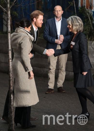 Пару встретили возле редакции радио. Фото Getty