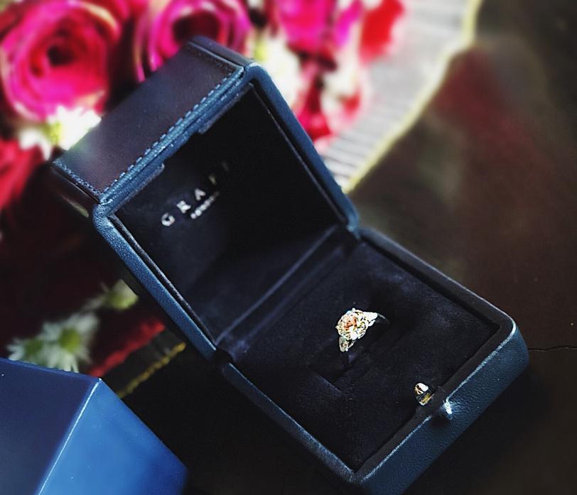 Обручальное кольцо для Анастасии Костенко - фотоархив. Фото https://www.instagram.com/kostenko.94/