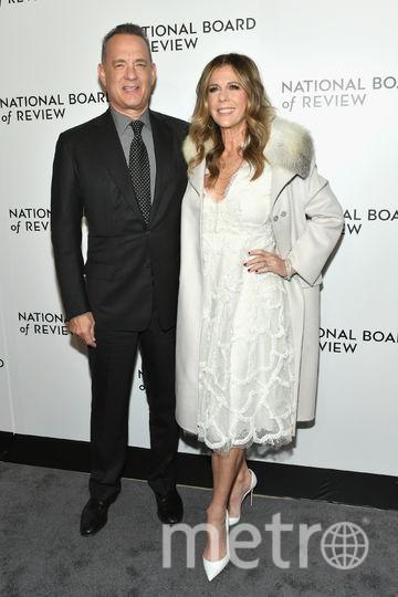 Звезды на National Board of Review Awards Gala. Том Хэнкс и его жена Рита Уилсон. Фото Getty