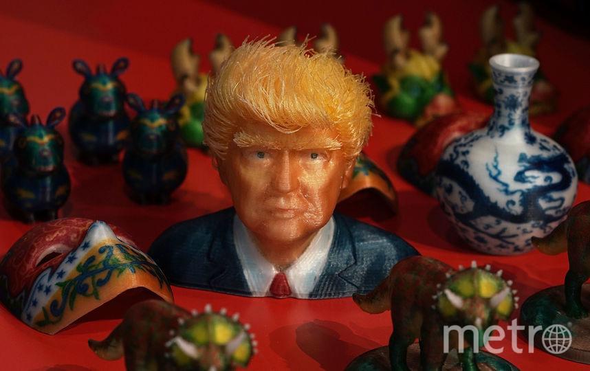 3D-распечатки, в том числе президента США Дональда Трампа, встречаются на CES 2018. Фото Getty