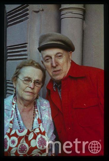 Родители поэта на балконе - 1978 год. Фото Мильчика. Предоставлено Фондом создания музея И. Бродского