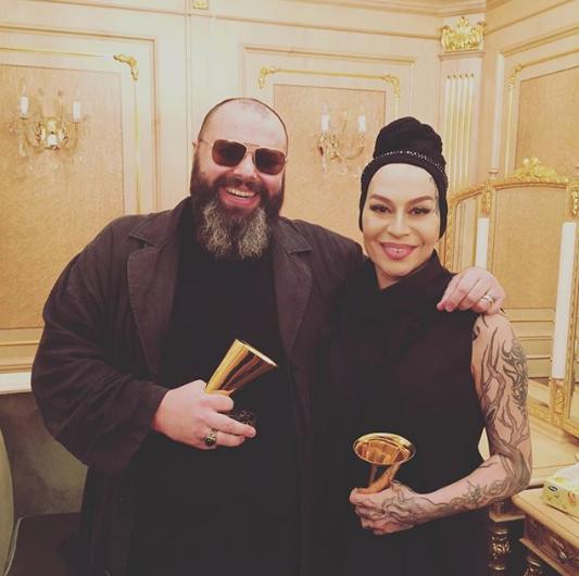 """Максим Фадеев и Наргиз на """"Золотом граммофоне"""". Фото www.instagram.com/fadeevmaxim"""
