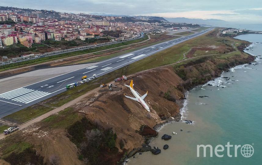 """В Турции """"Боинг"""" выкатился со взлётной полосы. Фото AFP"""