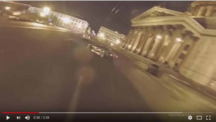 ВПетербурге оштрафован шофёр задрифт наИсаакиевской площади
