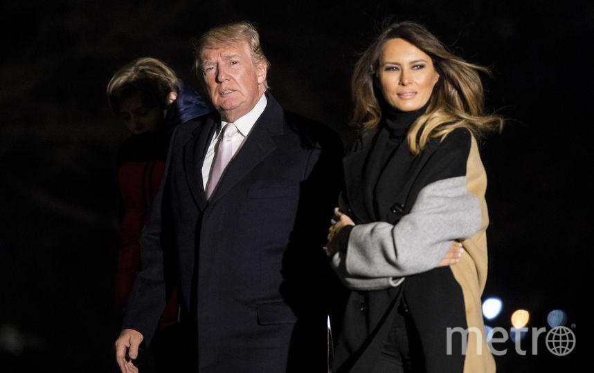 Пара вернулась в Вашингтон в хорошем настроении. Фото Getty