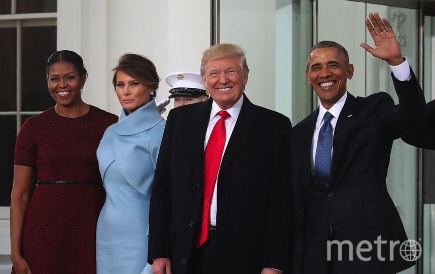 Дональд Трамп, Мелания Трамп и Барак и Мишель Обама перед инаугурацией. Фото Getty