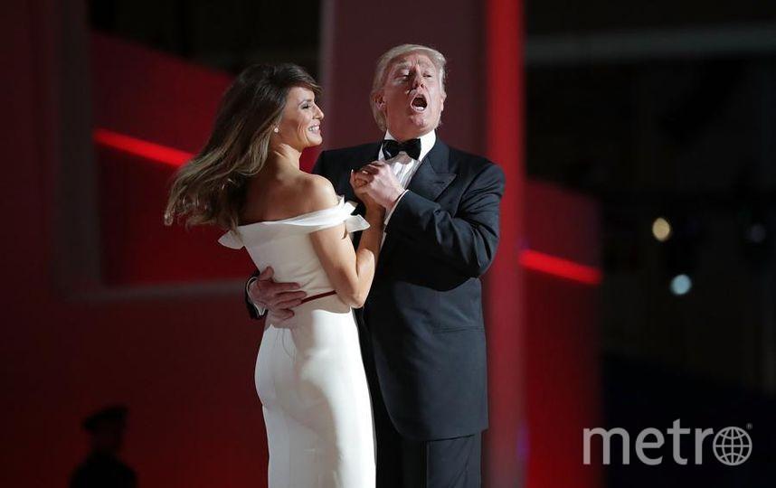 Дональд Трамп и Мелания Трамп. Танец на приеме в честь инаугурации. Фото Getty