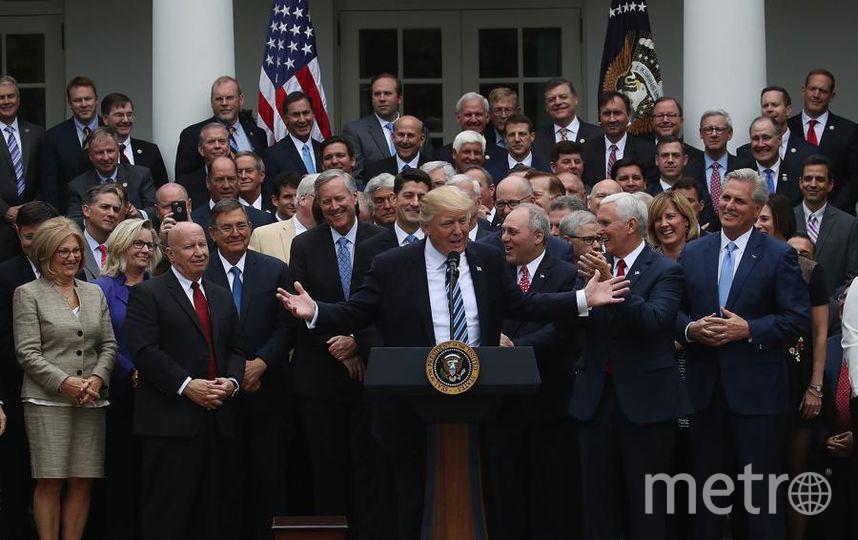Дональд Трамп после принятия закона об отмене ObamaCare в Белом доме 4 мая 2017 года. Фото Getty