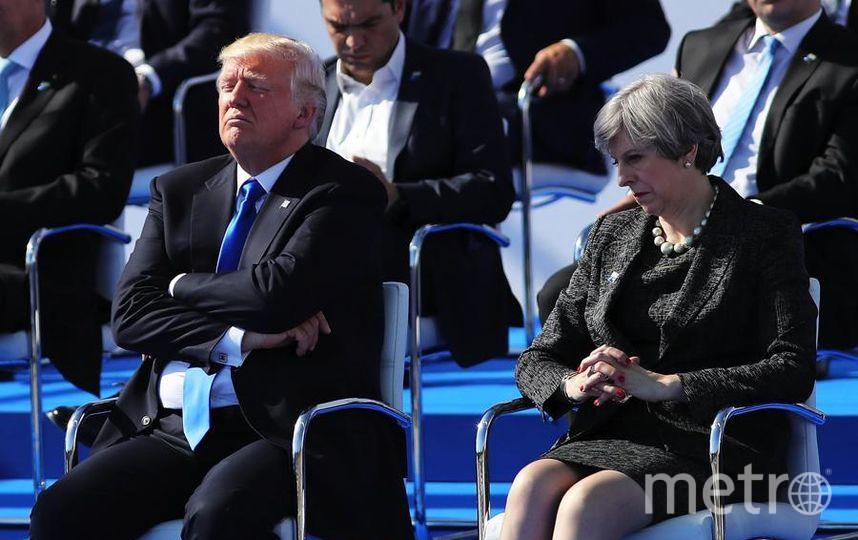 Дональд Трамп и премьер-министр Британи Тереза Мэй перед встречей лидеров НАТО 25 мая 2017 года в Брюсселе, Бельгия. Фото Getty