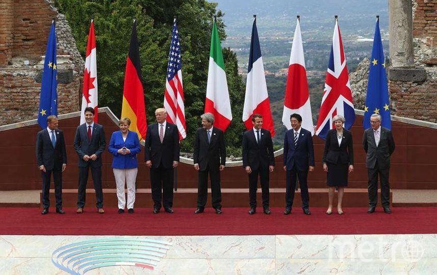 Дональд Трамп. Лидеры G7 на Сицилии в мае. Фото Getty